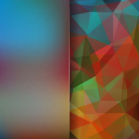 Abstract geometric style colorful' background. Blur background with glass. Vector illustration