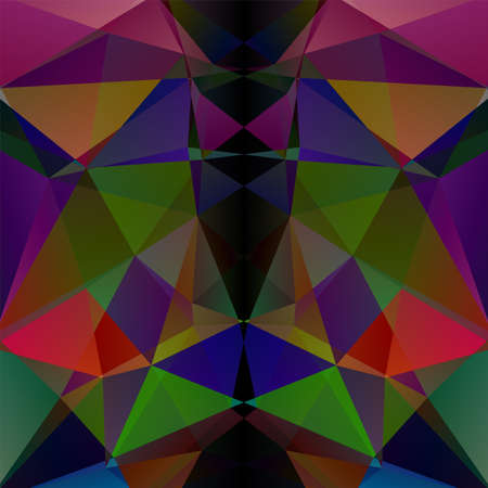 Colorful geometric pattern, polygon triangles vector background in green, red, blue, black Â' tones. Illustration pattern