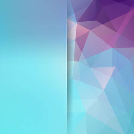 Abstract geometric style blue background. Blue Â' business background Blur background with glass. Vector illustration