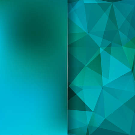 Abstract blue mosaic background. Blur background. Triangle geometric background. Design elements. Vector illustration