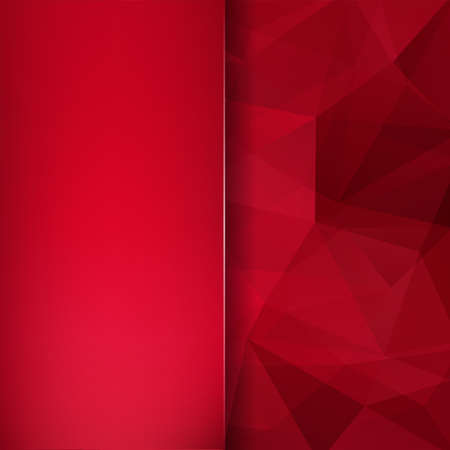 Geometric pattern, polygon triangles vector background in red Â' tones. Blur background with glass. Illustration pattern