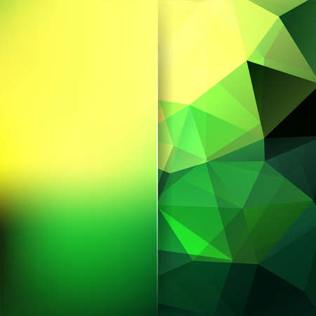 Geometric pattern, polygon triangles vector background in yellow, green Â' tones. Blur background with glass. Illustration pattern Vectores