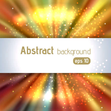 Beautiful rays of light. Shiny eps 10 background. Radial radiant effect. Vector illustration. Yellow, orange colors.