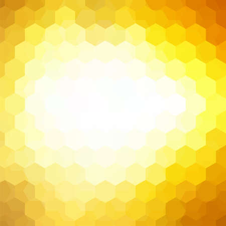 Vector background with yellow, white hexagons. Can be used in cover design, book design, website background. Vector illustration