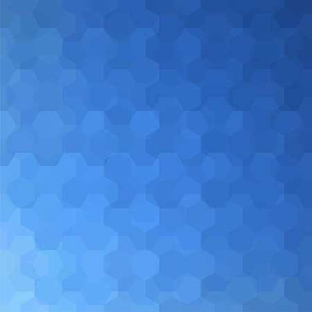 Geometric pattern, background with hexagons in blue Â' tones. Illustration pattern