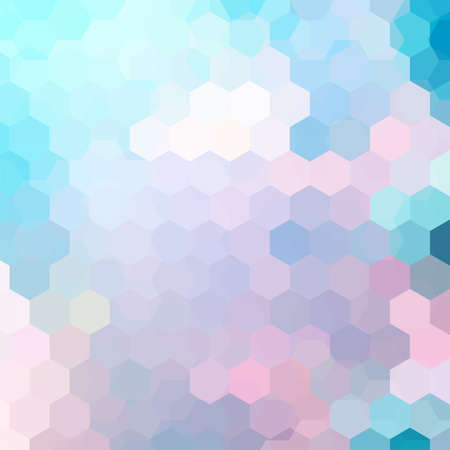 Abstract background consisting of pastel blue, pink hexagons. Geometric design for business presentations or web template banner flyer. Vector illustration