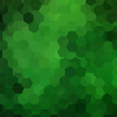 Geometric pattern background with green hexagons. Illustration pattern