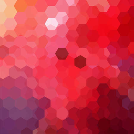 Abstract background consisting of red hexagons. Geometric design for business presentations or web template banner flyer.