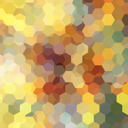 Abstract hexagons background. Geometric illustration. Creative design template. Yellow, brown colors. Vectores