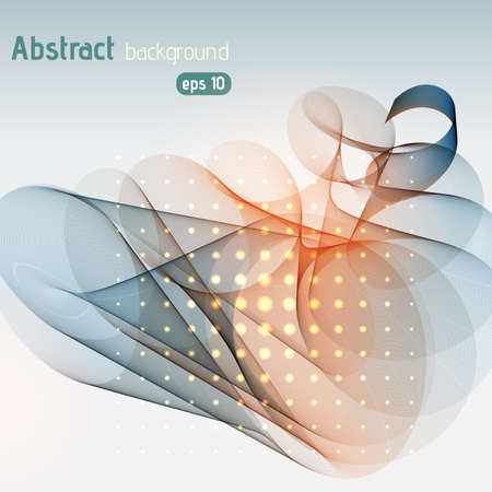 Abstract template background illustration. Gray, orange colors.