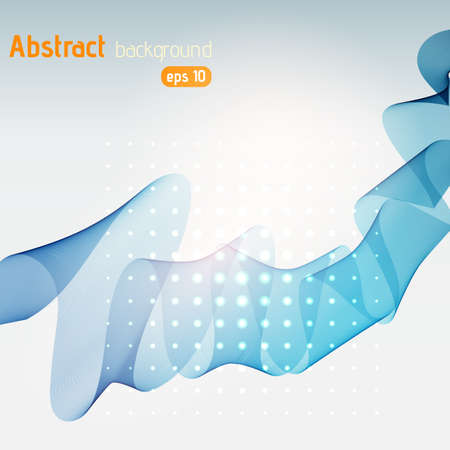 Abstract blue template background.