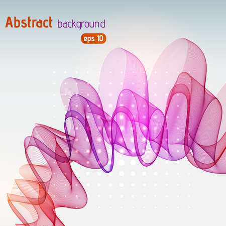Abstract template background illustration. Pink, purple, red colors.
