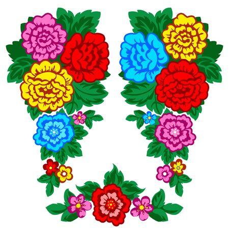 folk art: Floral pattern.