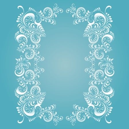 Stylized floral (frosty) pattern. Can be repainted in any color. Vector