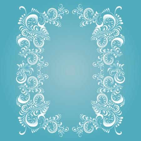 Stylizované květinové (mrazivé) vzor. Může být překreslil v jakékoliv barvě. Ilustrace