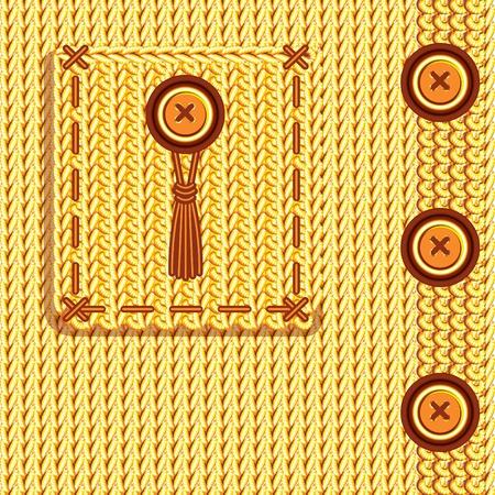 textura lana: La textura de un tejido de punto. Hecho a mano. Vectores