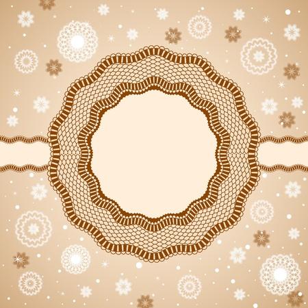 Lace, rosettes, snowflakes. Illustration