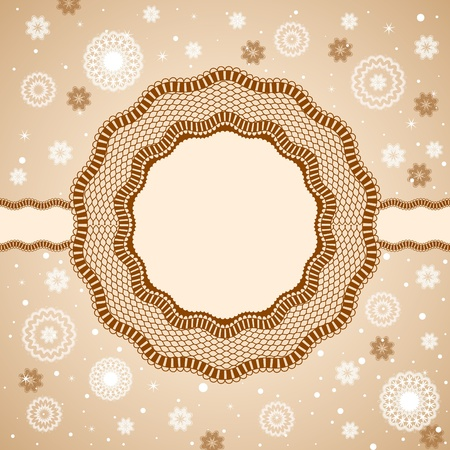 ornamentation: Lace, rosettes, snowflakes. Illustration