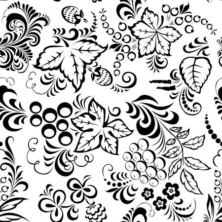 stylize: Gestileerde floral design. Naadloze.