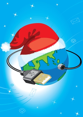 coreldraw: Globe with USB a socket. To modify this file you will need vector editing software such as Adobe Illustrator, Freehand, or CorelDRAW.