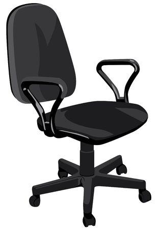 lombaire: Fauteuil de bureau sur un fond blanc Illustration