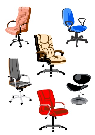 collection of office chairs for employees and managers