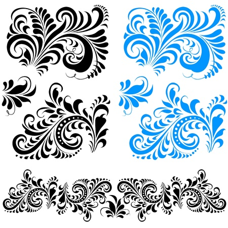 Stylized floral (frosty) pattern. Can be repainted in any color.