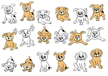 winking: Una collezione di cani con diverse espressioni facciali.