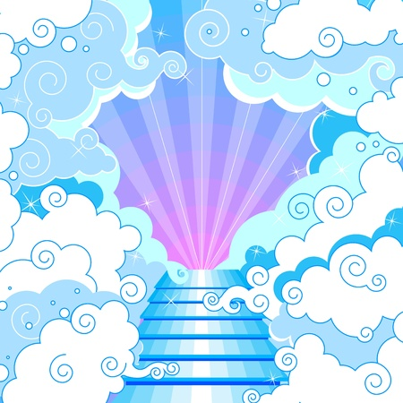 Stairway to heaven in the clouds. Stock Vector - 11650779