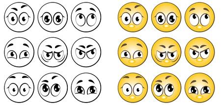 A set of individuals expressing various emotions.
