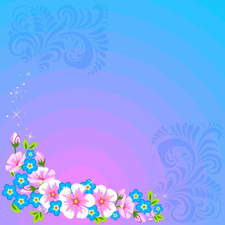 Angular floral designs.