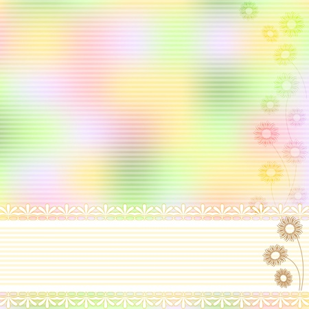 Pastel background  Ribbon  Floral designs  Vector