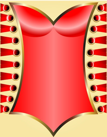 red corset: Red Corset with lace  Background