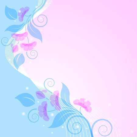 Abstract floral background  Pink and blue  Styling  Stock Vector - 13254981