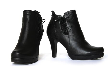 Womens stylish boots with lacing.
