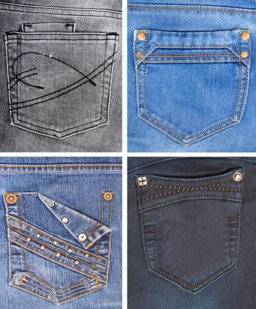 Sbírka džíny kapes různých barev