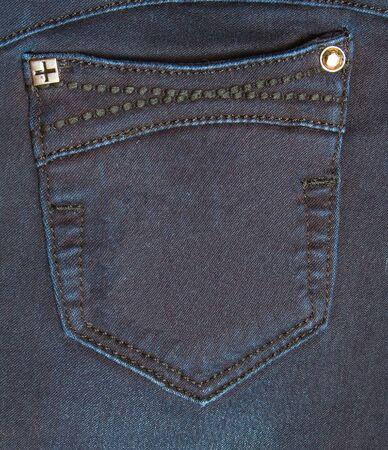 Pocket of jeans  Dark blue  Metal buttons