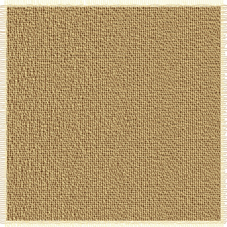 burlap: Fabric texture with brown fluff edges Illustration
