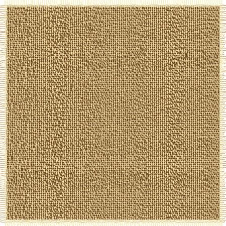 Fabric textury s hnědými načechraných hranami Ilustrace