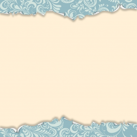 ragged blue wallpaper with a frosty ornament