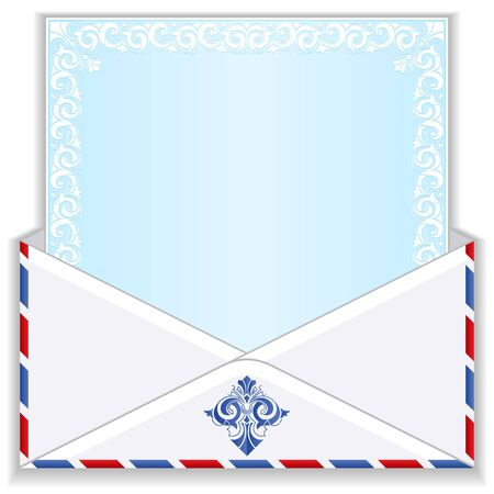 Mail envelope with a blank for text  photo