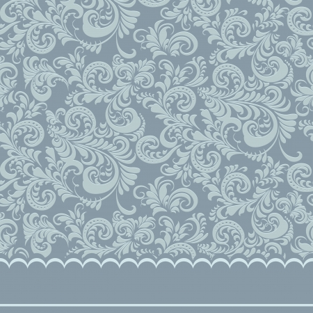 Calligraphic floral ornament  Background  photo