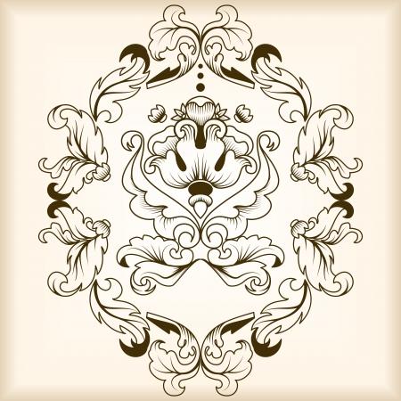 Calligraphic ornamentation  Set of decorative calligraphic elements  Stock Photo