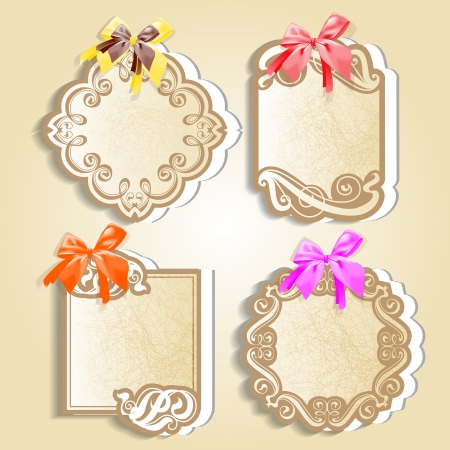 Vector set  vintage labels with calligraphic ornamentation Stock Vector - 18270385