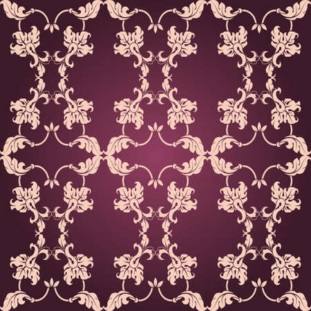Background calligraphic elements and frame in vintage style  Seamless  photo