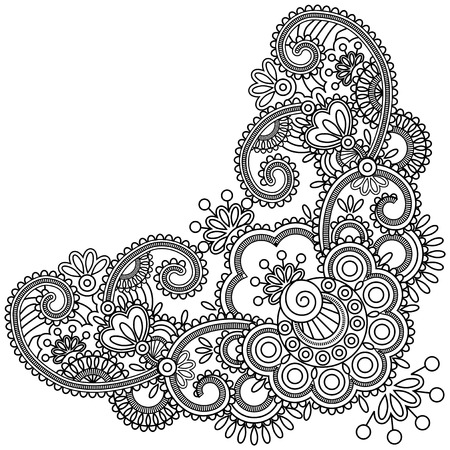 Mehndi flower