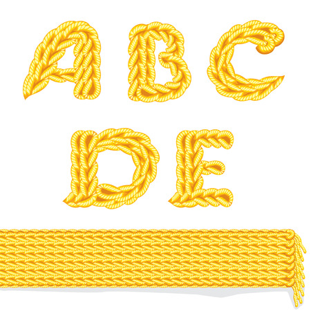 letter of knit handmade alphabet on white background Vector