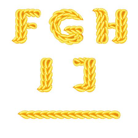 letter of knit handmade alphabet on white background Illustration