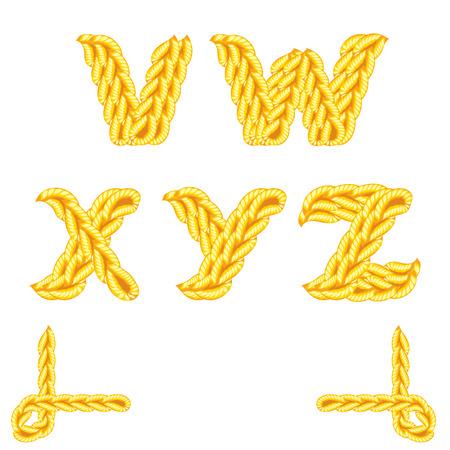 crochet: letter of knit handmade alphabet on white background Illustration