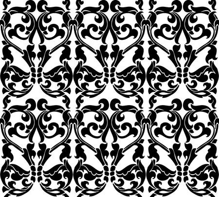 classic art: Seamless floral ornament classic Art Nouveau. Template. Illustration